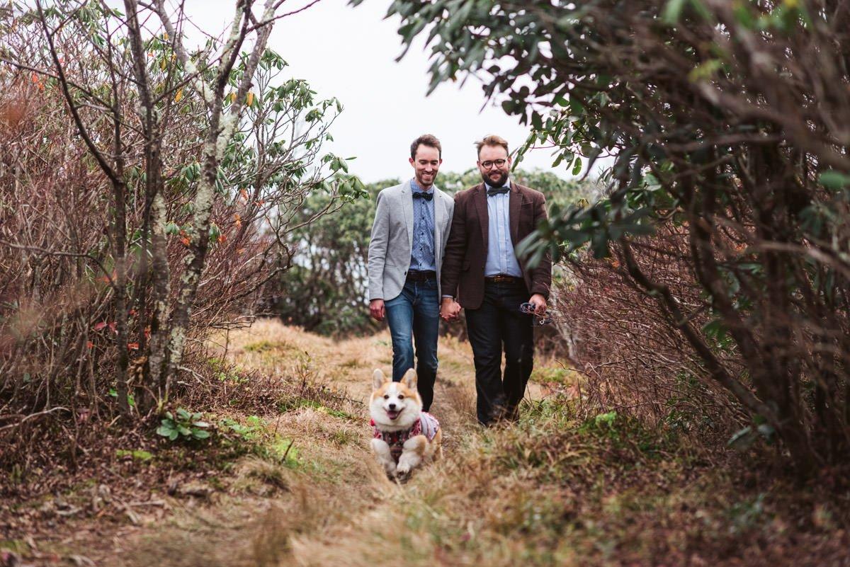 Gay Couple Corgi Filled Engagement