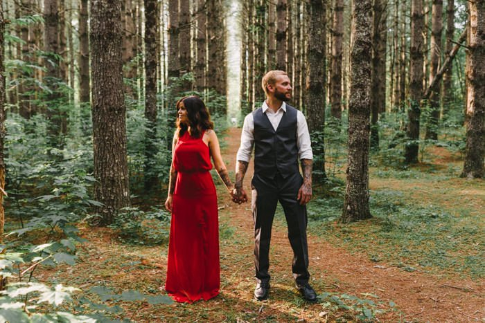 Asheville NC mountain engagement
