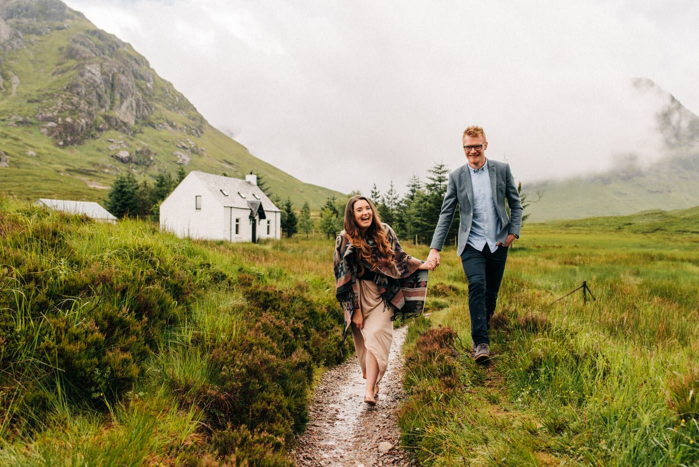 Isle of Skye Glencoe Elopement bride and groom