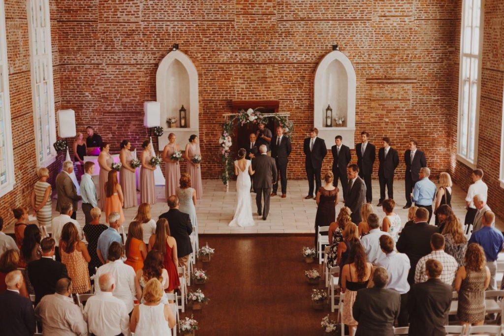 Overhead shot of downtown Portland Oregon wedding