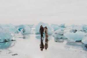 Iceland wedding on at glacier lagoon