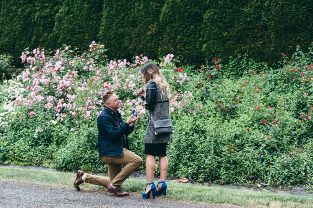 Surprise wedding proposal photographer in Portland Oregon