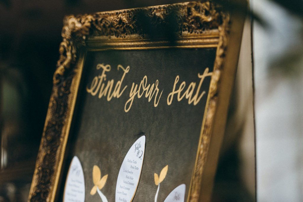 Wedding table seating charts