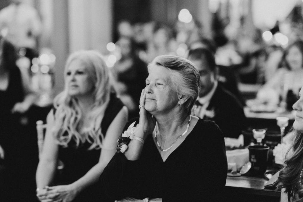 Grandma emotional during wedding speeches