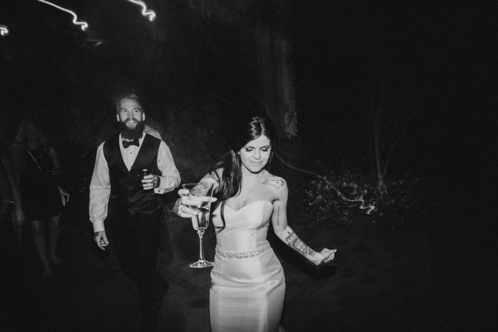 Fun wedding reception dance floor photos
