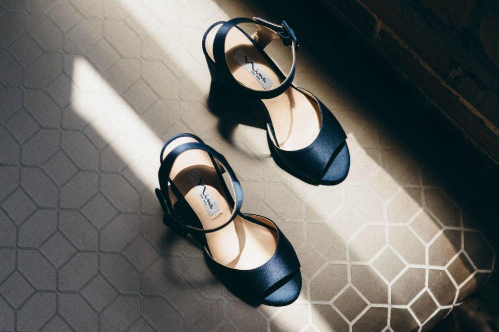 Wedding shoes for a Portland Oregon bride