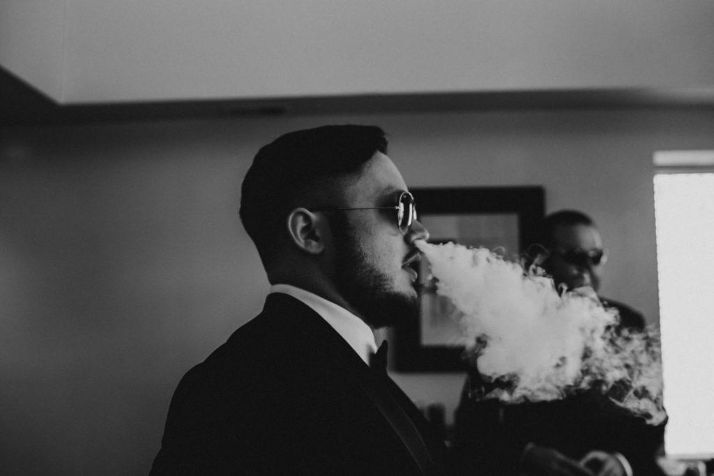 Groomsman before Portland Wedding