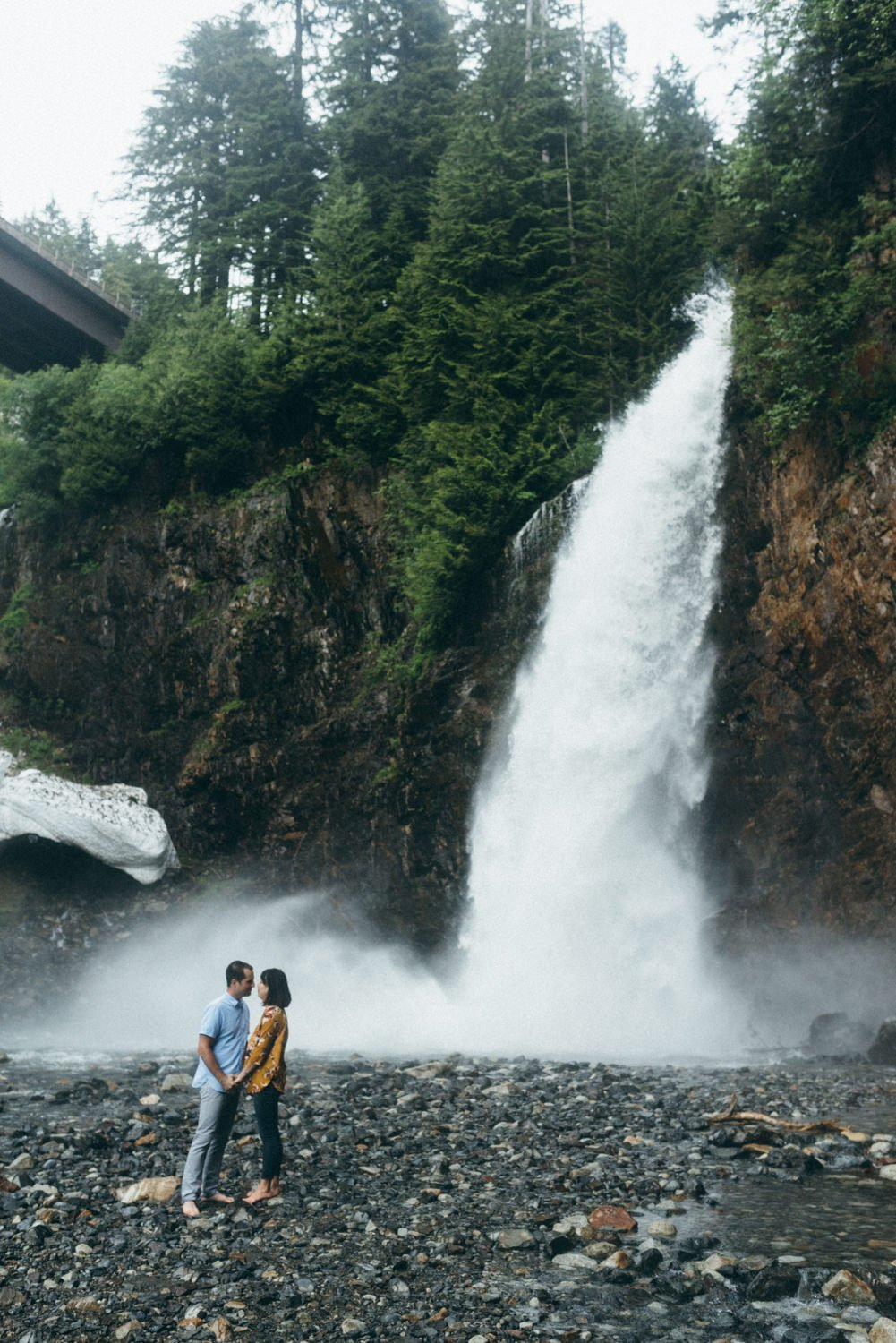 Franklin Falls WA Engagement session near North Bend