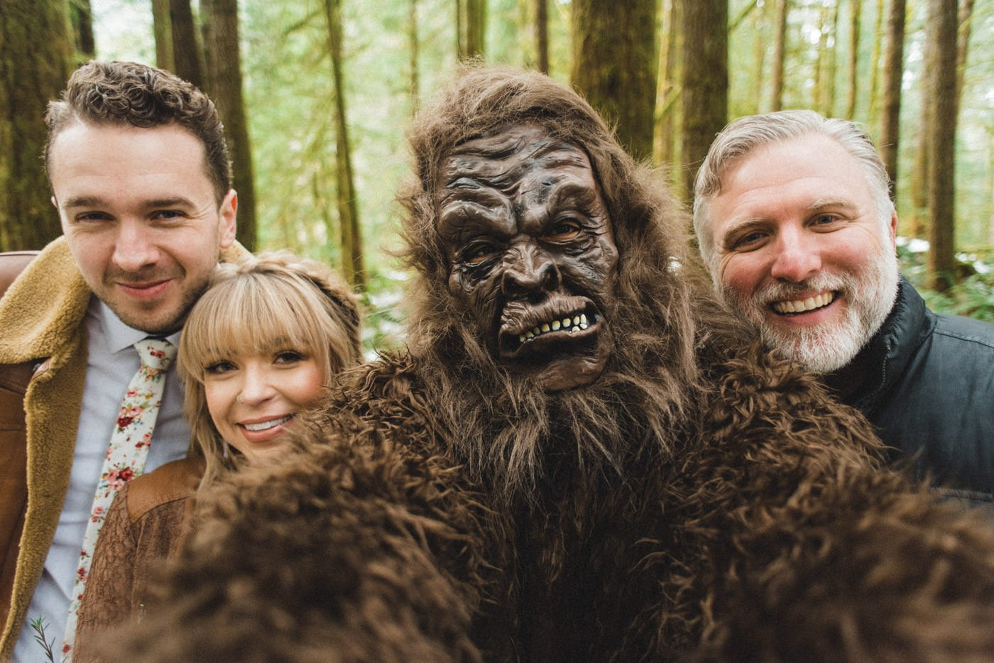 Portland Bigfoot Wedding officiated by Cliff Barackman
