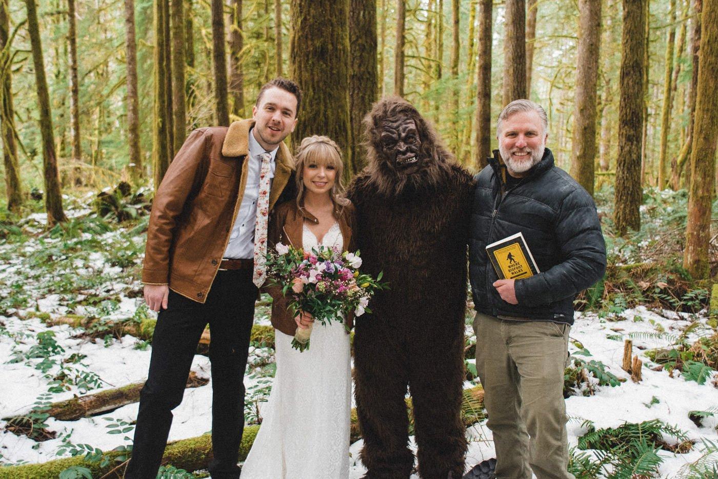 Mt Hood Bigfoot Wedding