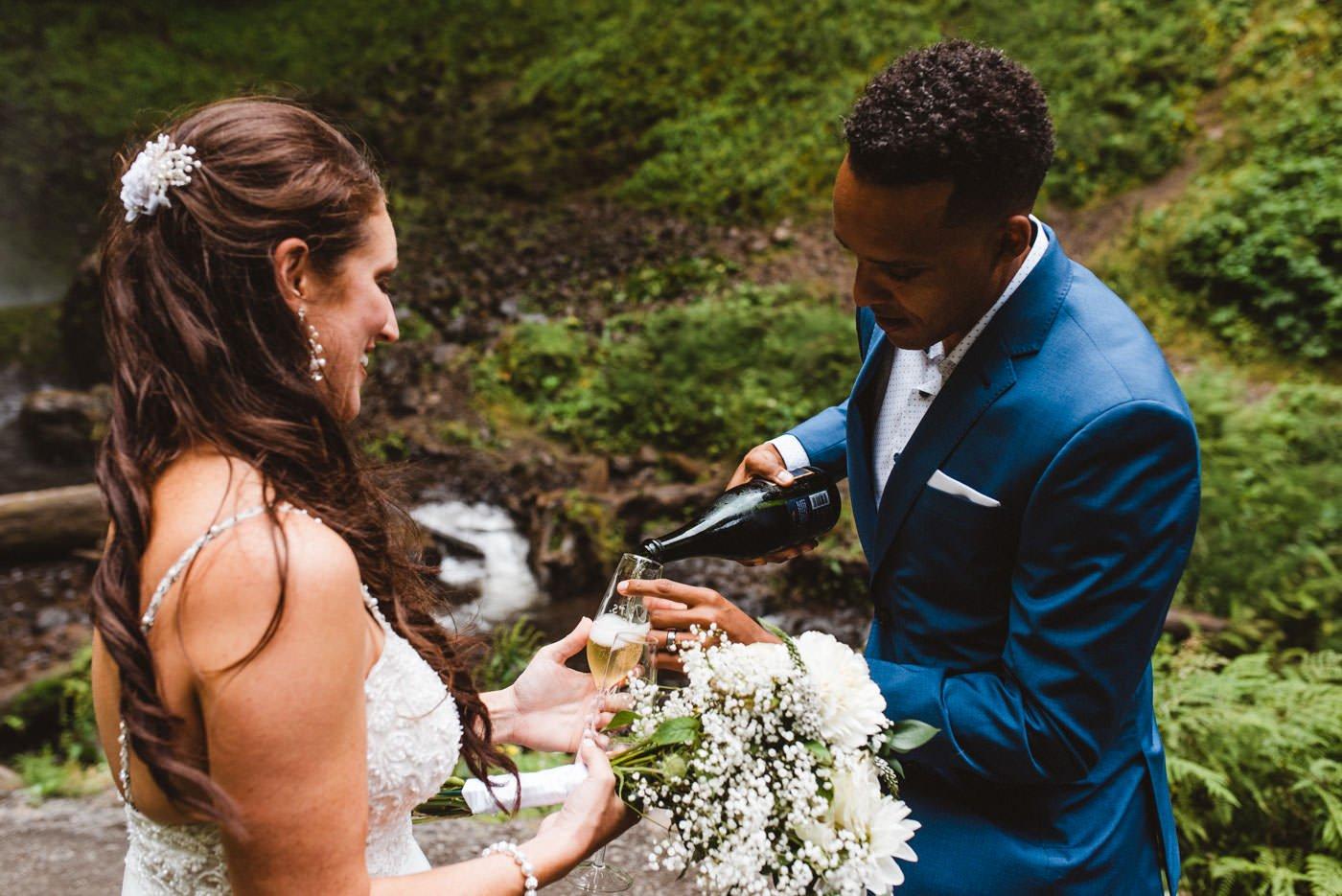 Latourell Falls Covid Wedding