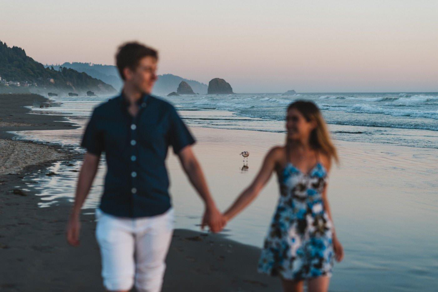 Hug Point + Cannon Beach Engagement