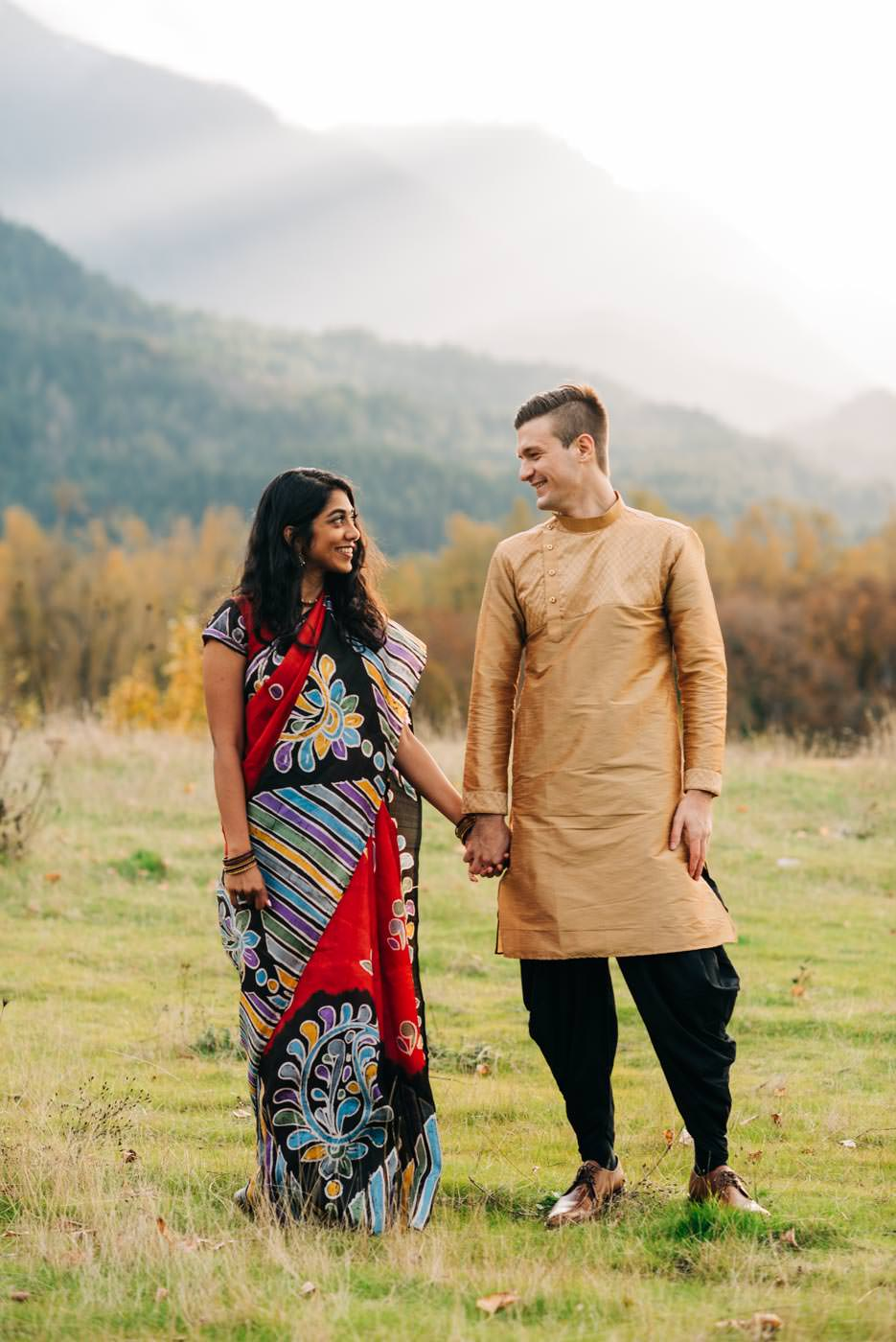 Indian Engagement Session in Columba River Gorge