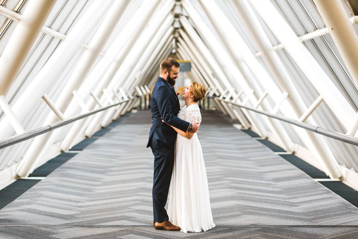 Bride and Groom Downtown Portland Elopement