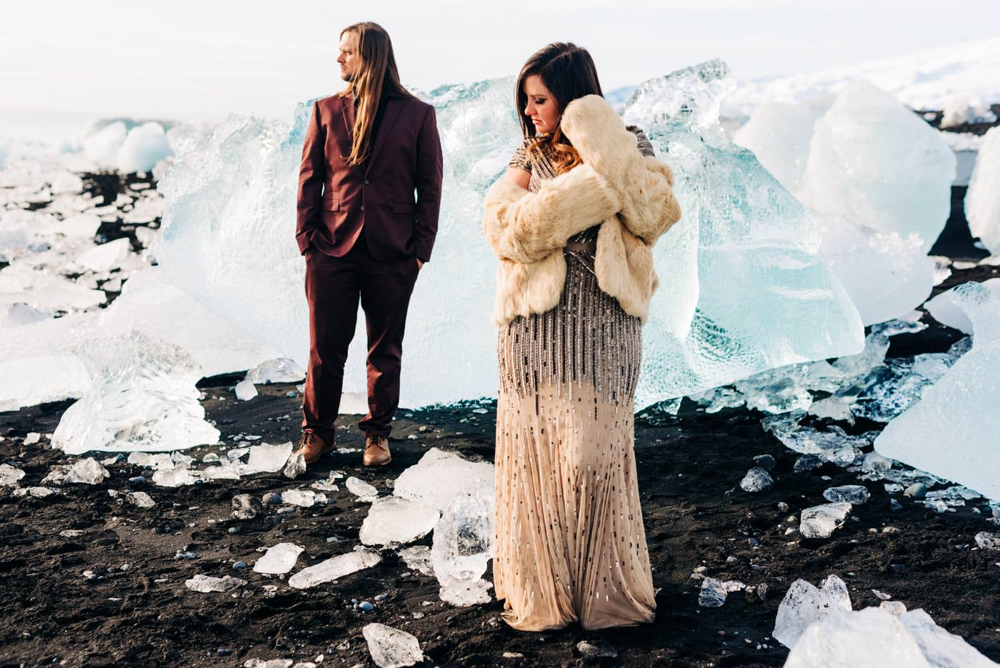 Iceland Elopement at the glacier lagoon
