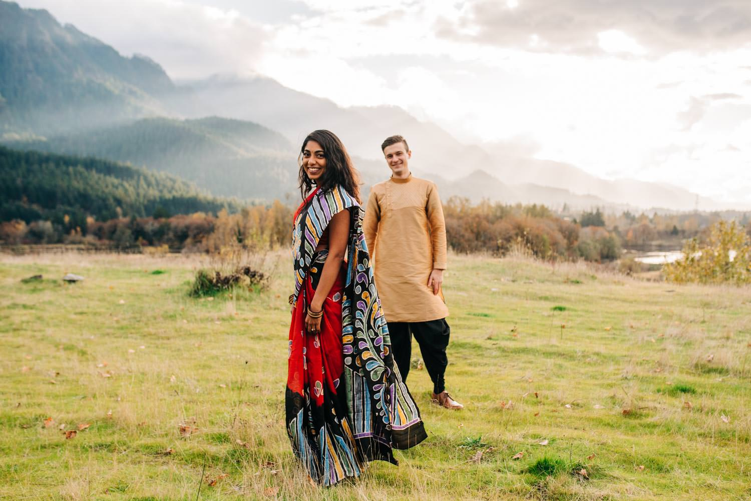 Indian Engagement Session Columbia River Gorge