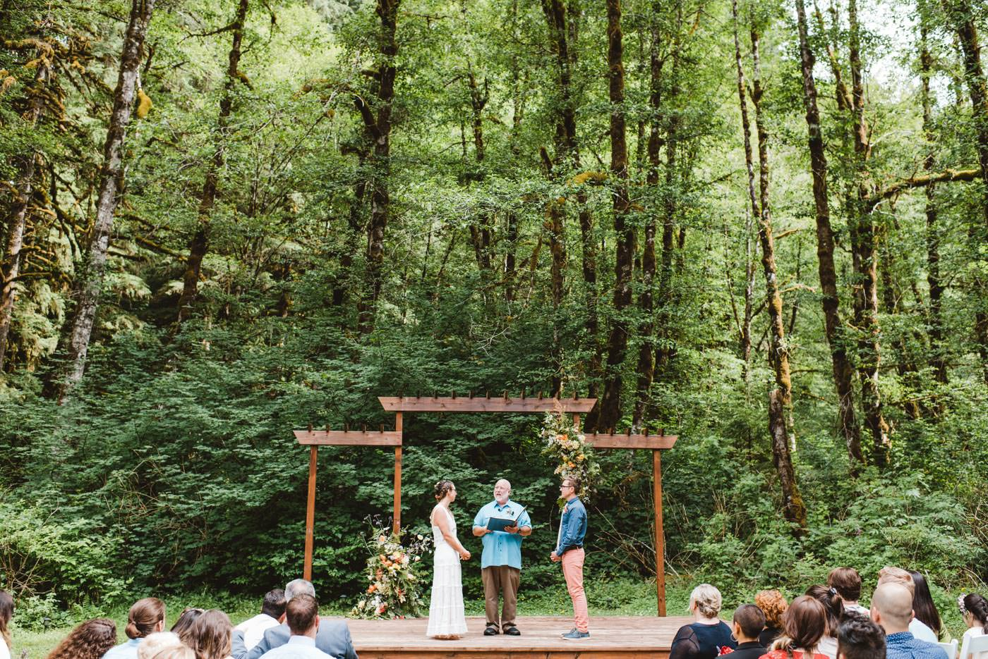 Bride and Groom Portrait Silver Falls Wedding Oregon