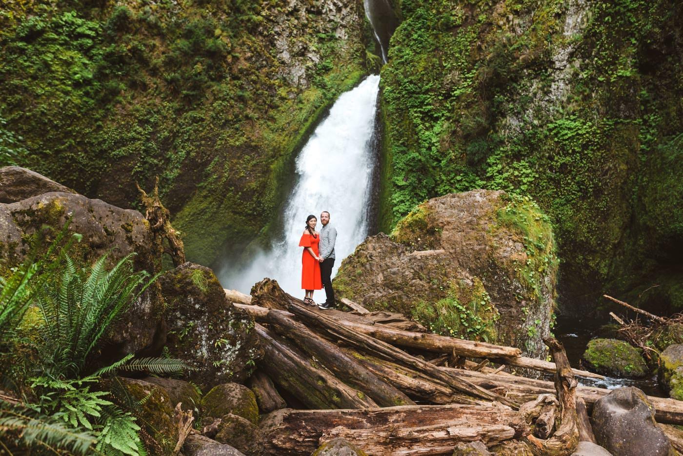 Wahclella Falls Portland Oregon Engagement Session