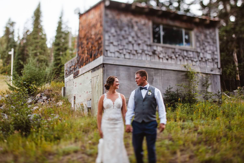 Cooper Spur Wedding bride and groom portraits