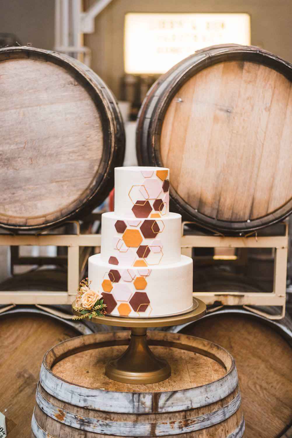 Coopers Hall Wedding Cake by Dream Cakes Portland Oregon