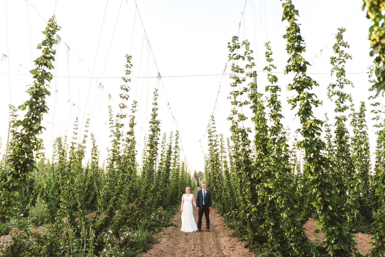 Portland Wedding at hops farm