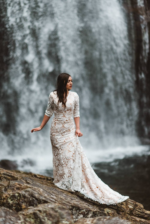 Portland Wedding Photographer Waterfall Bridal